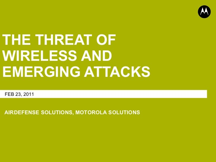 Super Barcode Training Camp - Motorola AirDefense Wireless Security Presentation