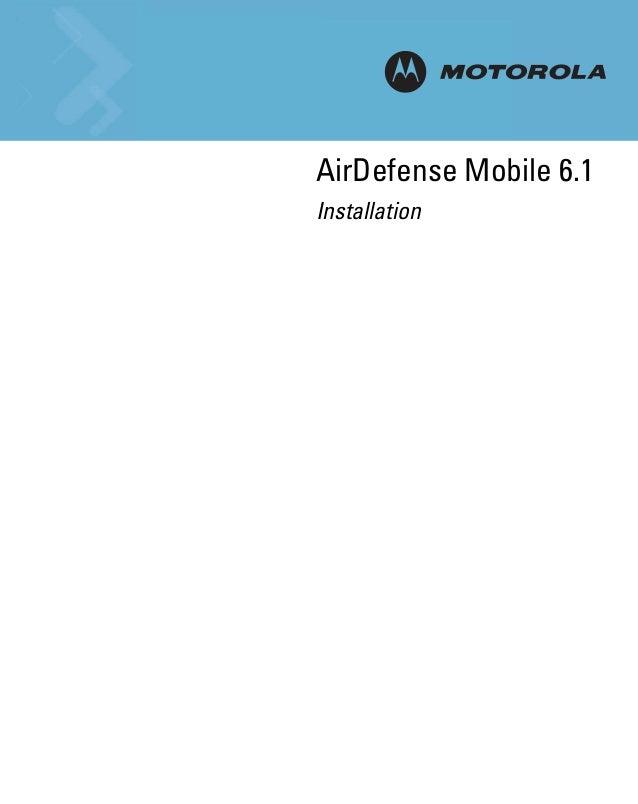 Motorola air defense mobile 6.1 install guide