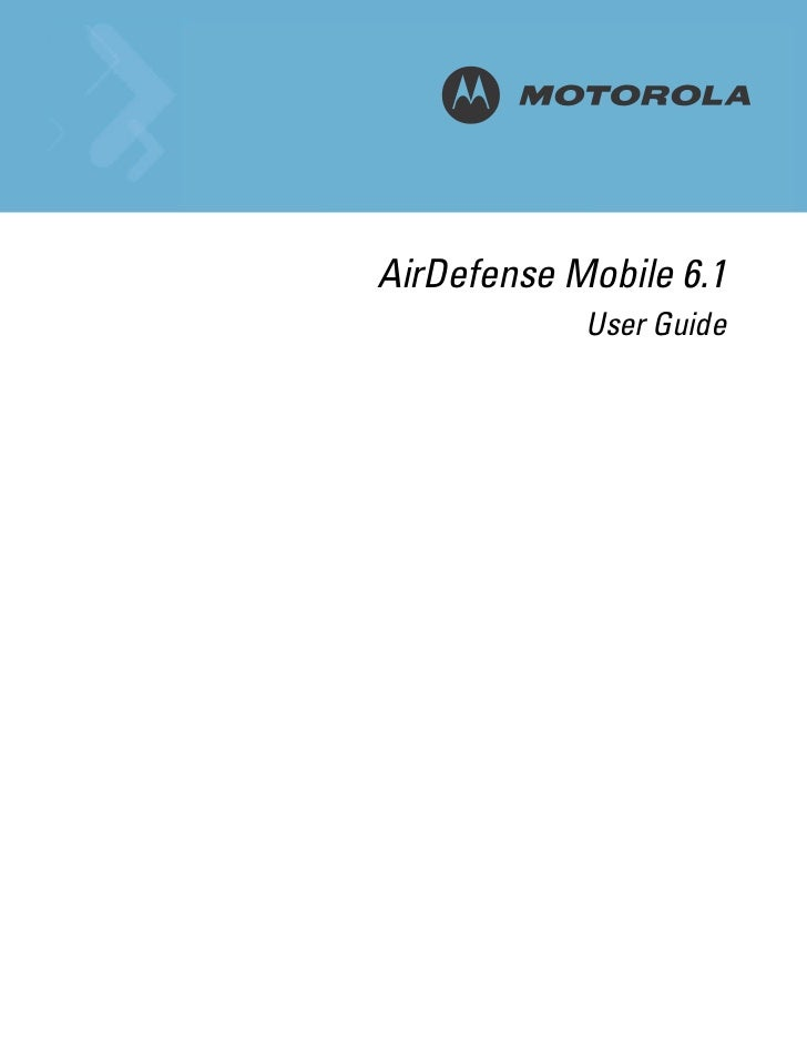 Motorola air defense mobile 6.1 user guide