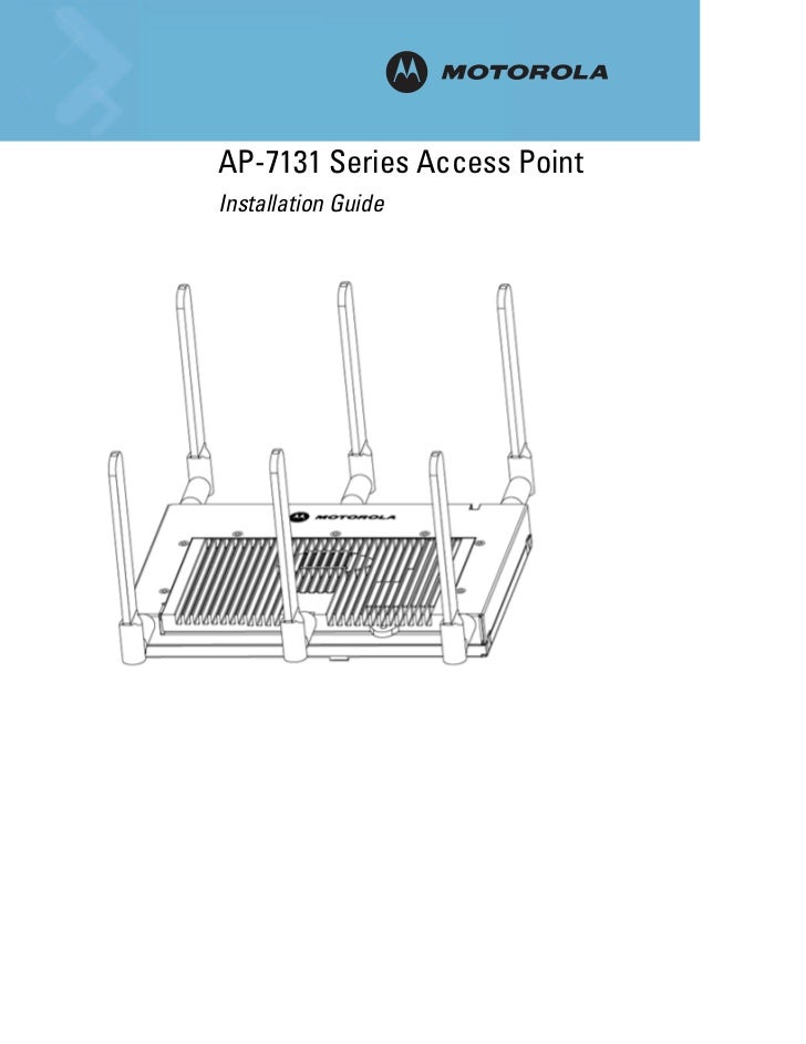AP-7131 Series Access Point        INSTALLATIONInstallation Guide