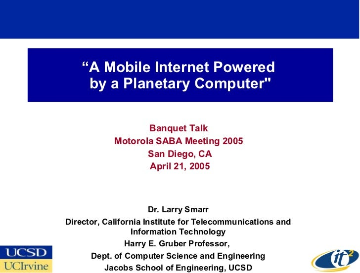 A Mobile Internet Powered by a Planetary Computer