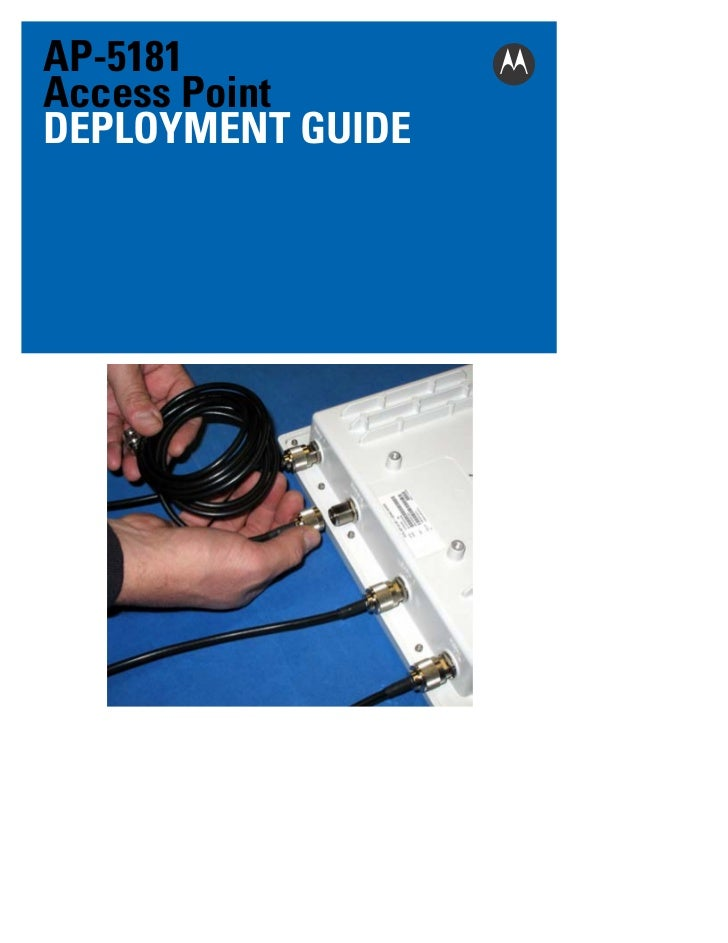 AP-5181Access PointDEPLOYMENT GUIDE