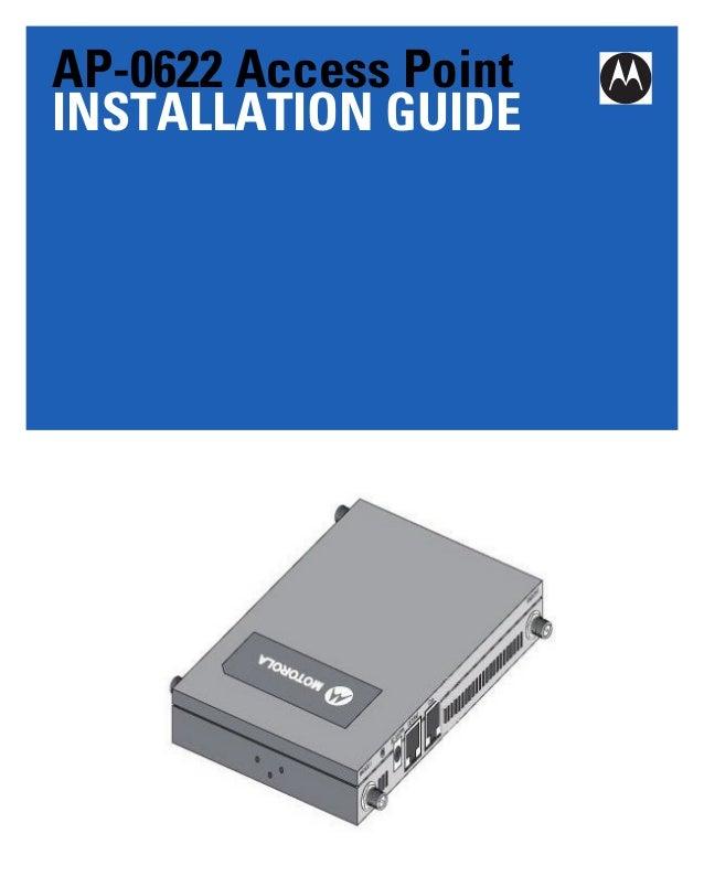 Motorola solutions ap622 access point installation guide (part no. 72 e 157808-01 rev. a) 15780801a