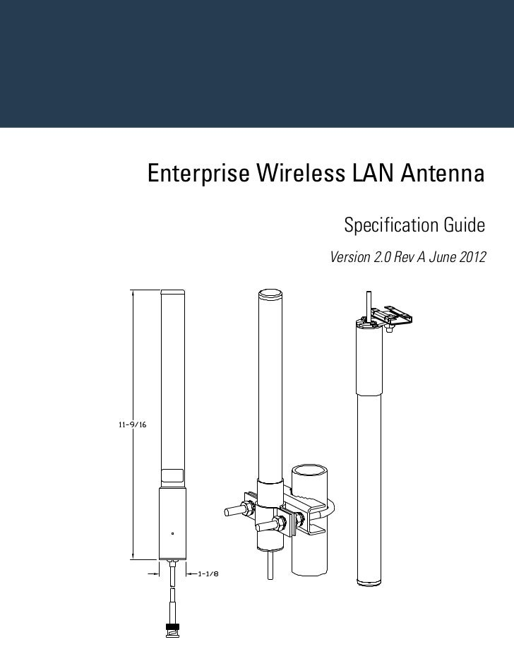 Motorola solutions enterprise wireless lan antenna specification guide version 2.0 16290601a