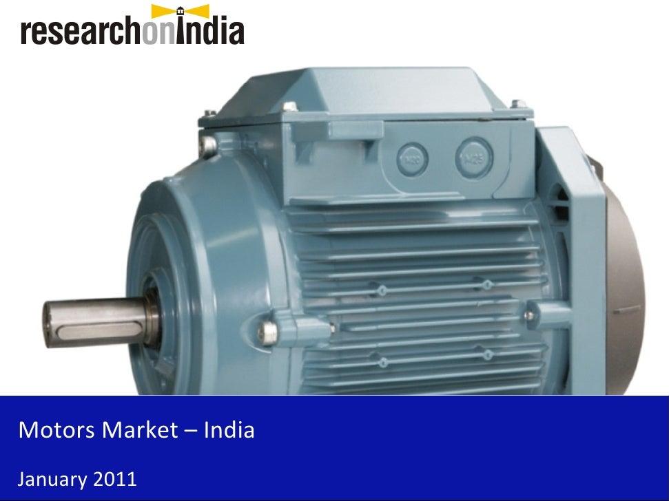 Motors Market – India January 2011