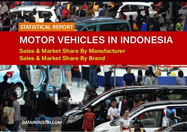 MOTOR VEHICLES IN INDONESIA Sales & Market Share By Manufacturer Sales & Market Share By Brand DATAINDUSTRI.COM STATISTICA...
