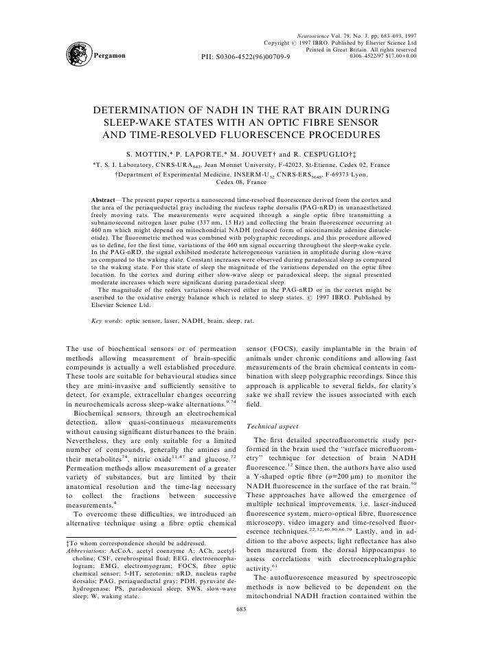 Neuroscience Vol. 79, No. 3, pp. 683–693, 1997                                                                  Copyright ...