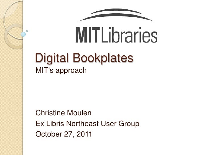 Moulen digital bookplates