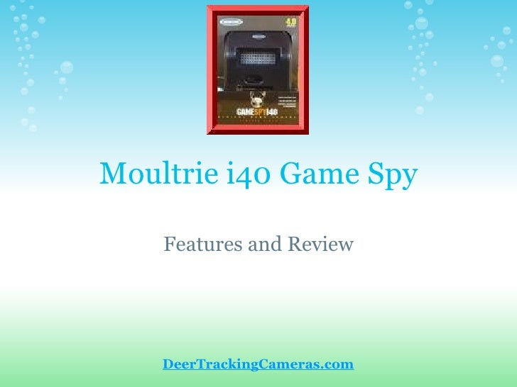 Moultrie i40 Game Spy Features and Review DeerTrackingCameras.com