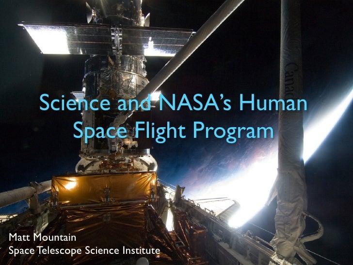 Science and NASA's Human Space Flight Program