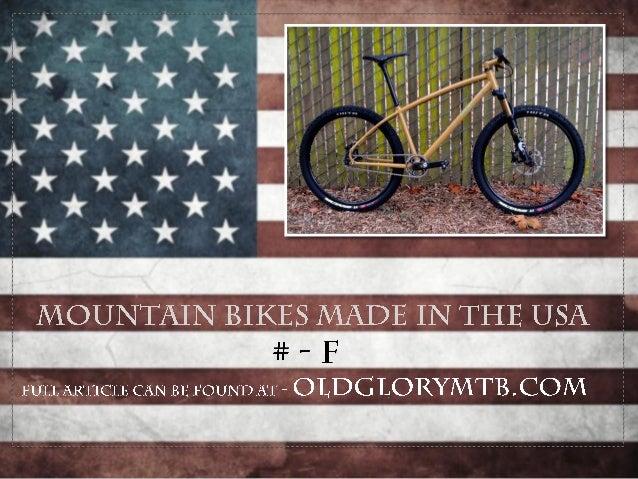American Made Mountain Bikes