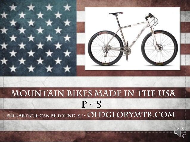 American Mountain Bike Frame Builders: P-S