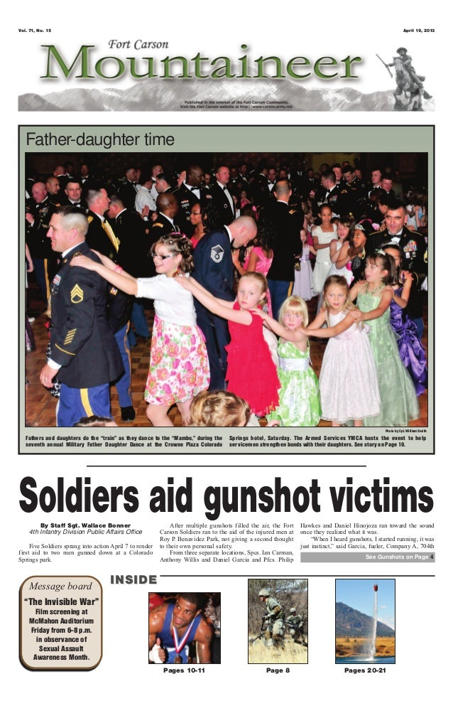 """Vol. 71, No. 15 April 19, 2013Pages 10-11 Page 8 Pages 20-21Message board INSIDEINSIDE""""The Invisible War""""Film screening at..."""