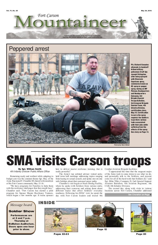 Vol. 71, No. 20 May 24, 2013Pages 22-23 Page 20Page 12Message board INSIDEINSIDESoldier ShowPerformances areat 2 and 7 p.m...