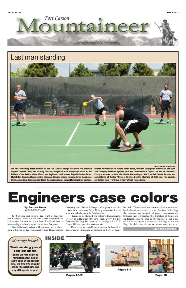 Vol. 71, No. 22 June 7, 2013Pages 20-21 Page 13Pages 8-9Message board INSIDEINSIDESwimming poolfee changeDue to current wa...