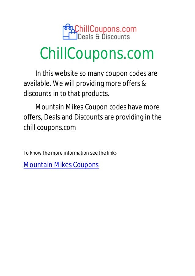 Mountain mike coupon code