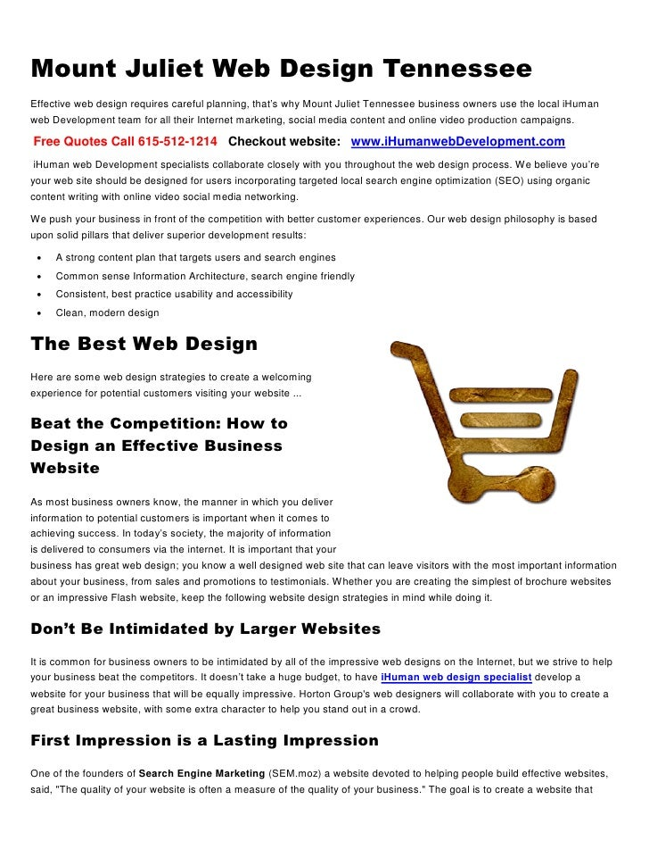 Mount Juliet Web Design TennesseeEffective web design requires careful planning, that's why Mount Juliet Tennessee busines...