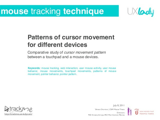 Mouse tracking technique and mouse patterns