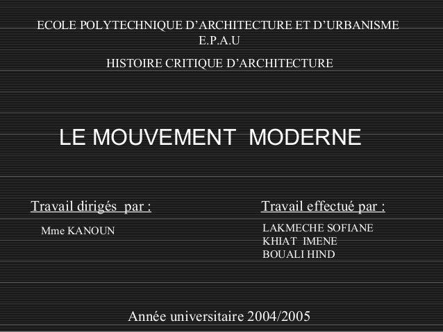 mouvement moderne