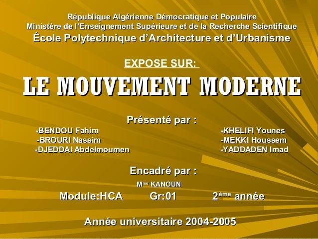 mouvement moderne 02