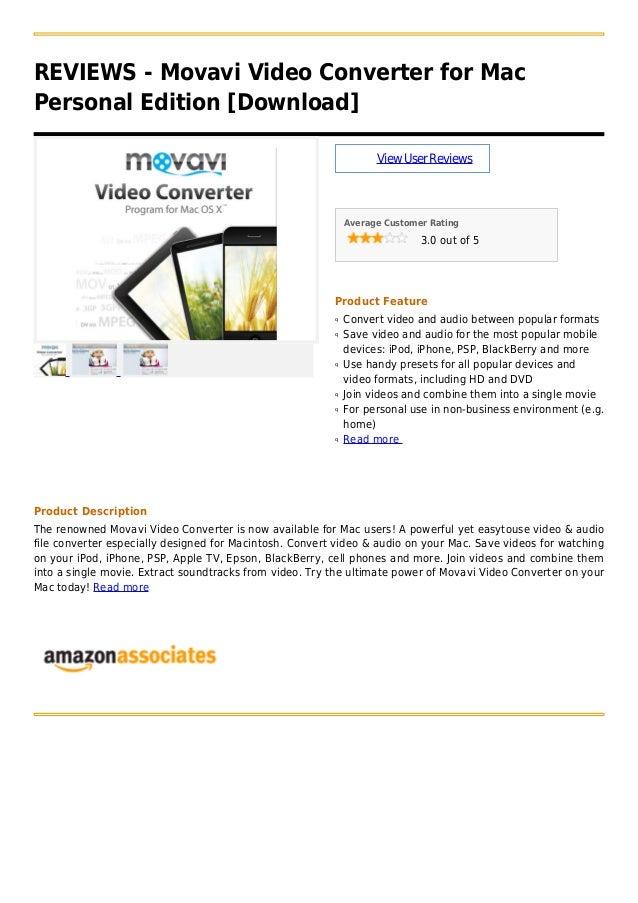 Movavi video converter for mac personal edition [download]