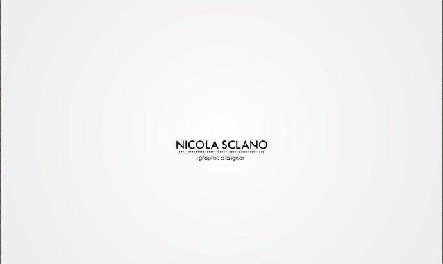 NICOLA SCLANO graphic designer