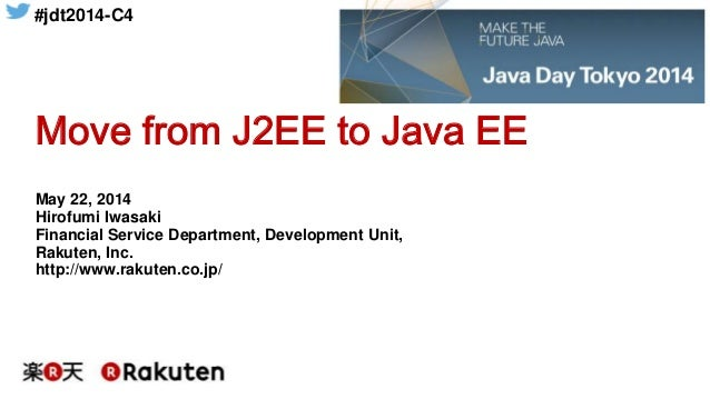 Move from J2EE to Java EE