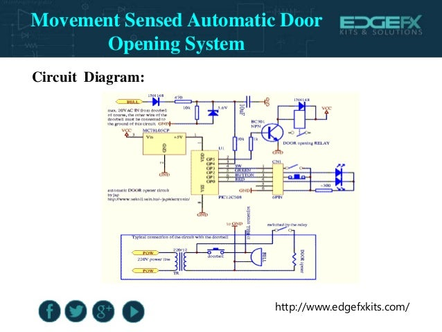 Automatic Door Opener Circuit Automatic Door Opening