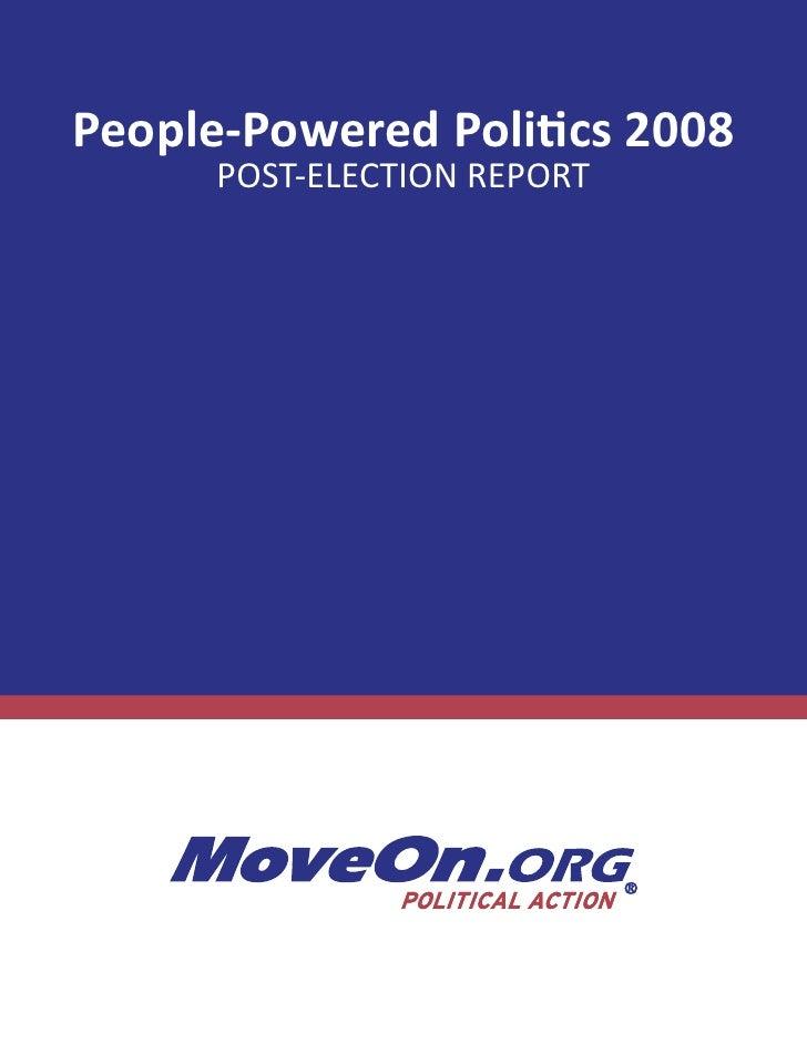 Moveon rapport d'activité 2008