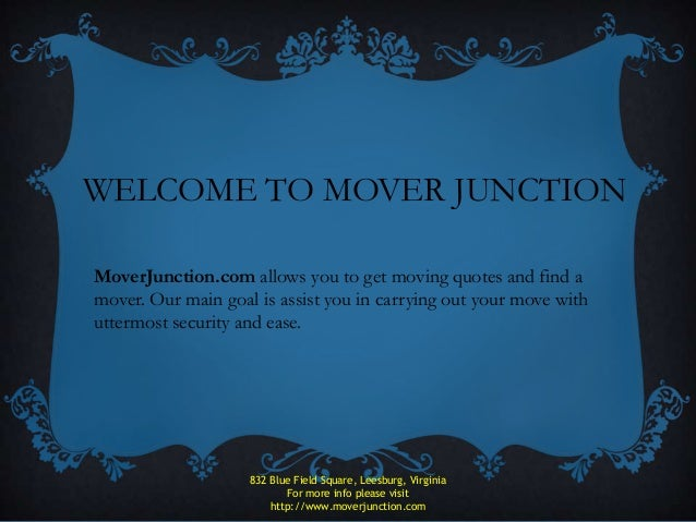 MoverJunction- Get Long Distance Moving Quotes
