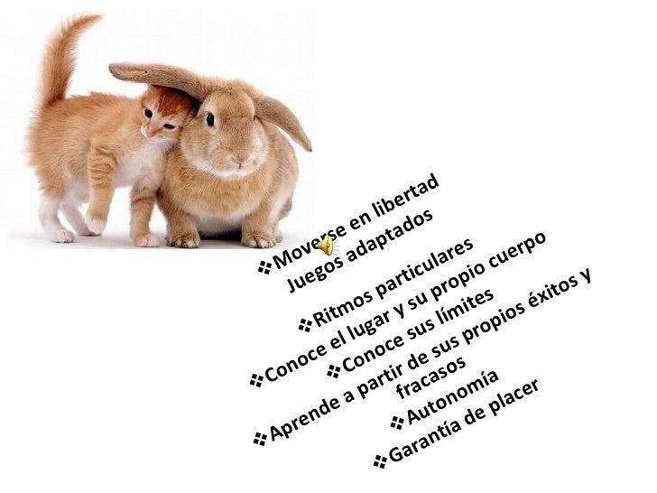 <ul><li>Moverse en libertad Juegos adaptados </li></ul><ul><li>Ritmos particulares </li></ul><ul><li>Conoce el lugar y su ...