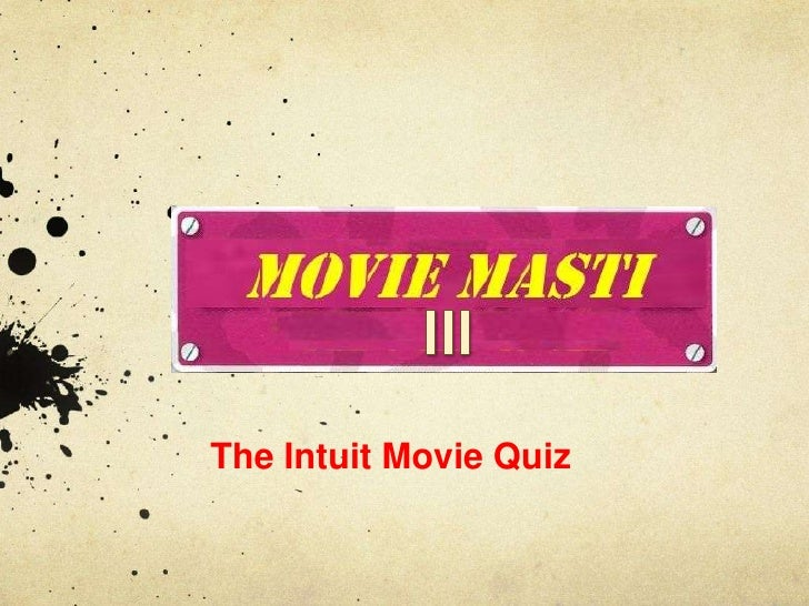 Intuit Movie Quiz - Sep 2011