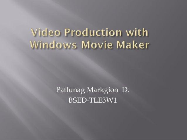 Patlunag Markgion D.    BSED-TLE3W1