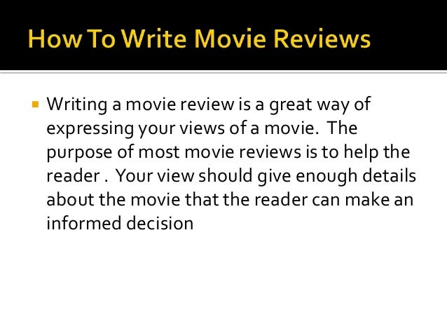 How would you write a movie review...?