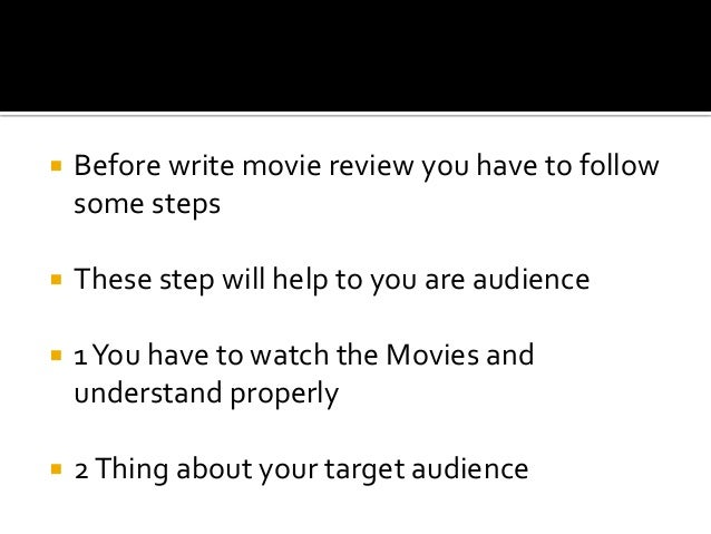 How to write a movie review