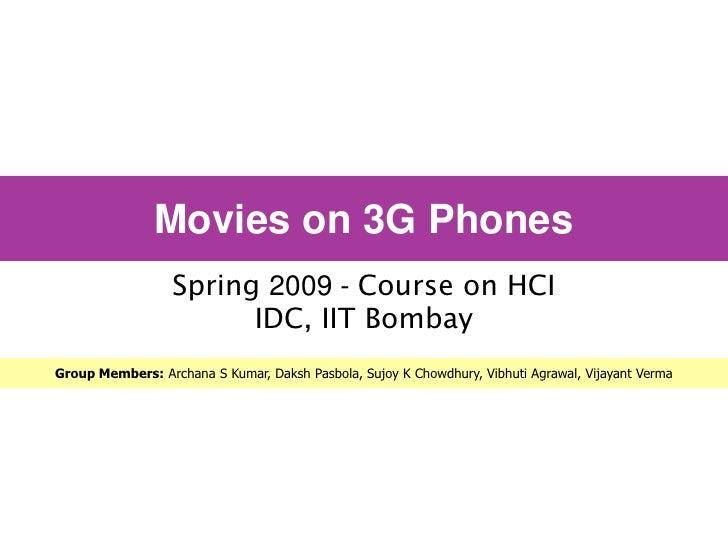 Movies On 3G Phones