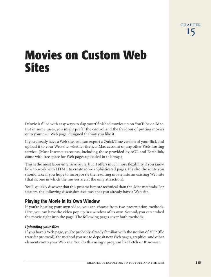 chapter                                                                                            15 Movies on Custom Web...