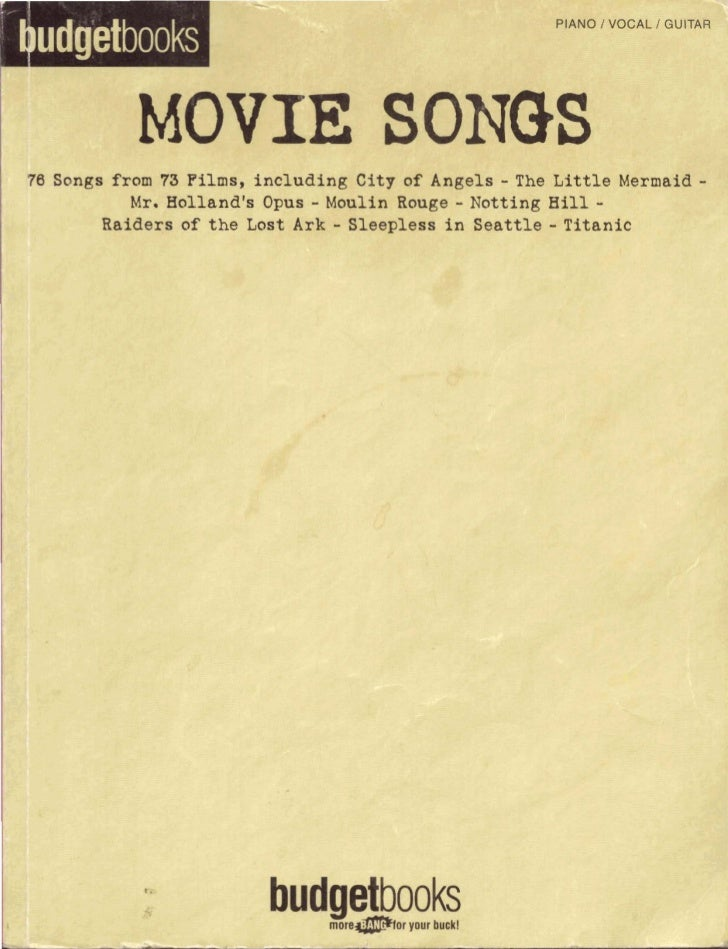 udgetbooks               MOVIL    76 Songs from 78 F i l m s , including City   of Angels   - The L i t t l e Mermaid -I!:...