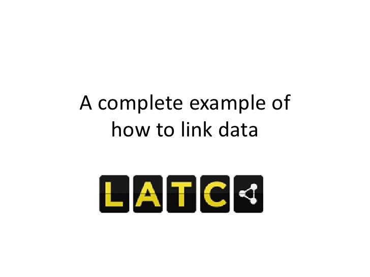 A complete example of   how to link data