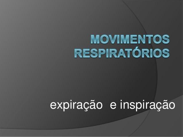 expiração e inspiração