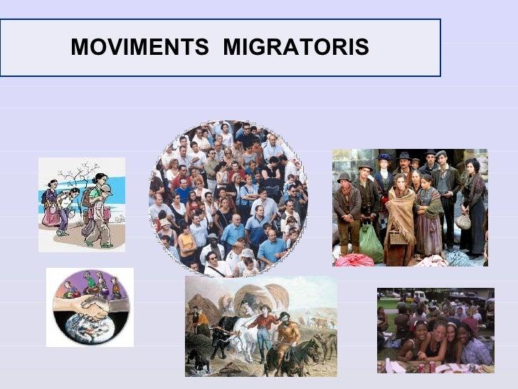 MOVIMENTS MIGRATORIS