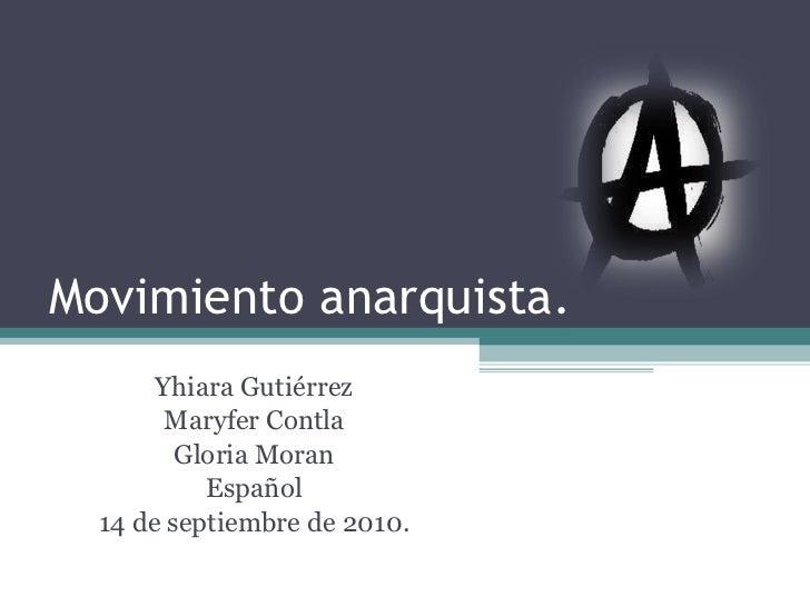 Movimiento anarquista trabajo