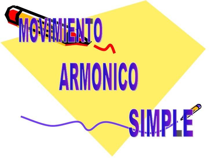 Movimiento armónico simple