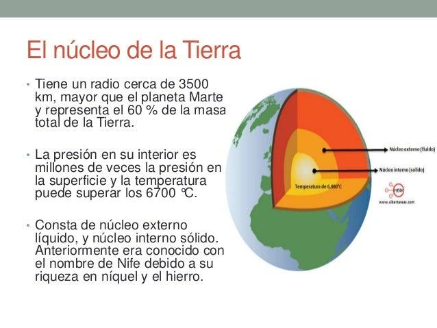 Resultado de imagen de nucleo de la tierra