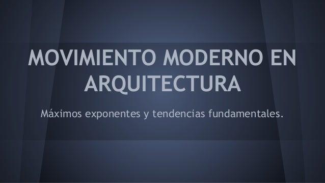 Movimiento Moderno Arquitectura Pdf