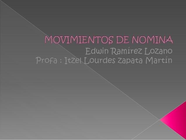 MOVIMIENTOS DE NOMINA