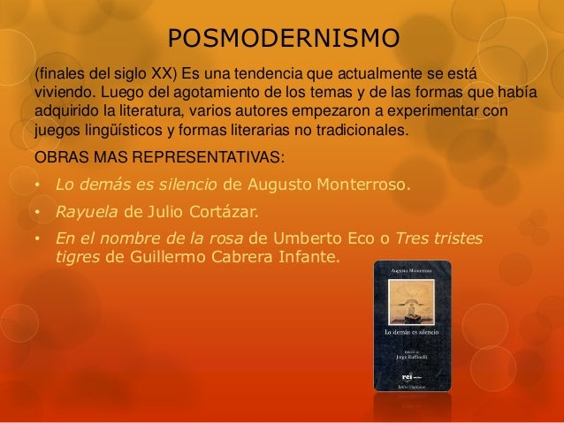 Movimientos literarios for Definicion de contemporanea