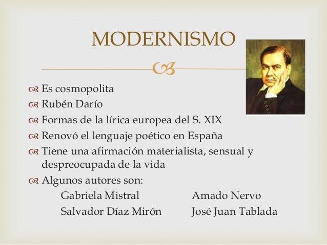 Gabriela Mistral movimiento literario