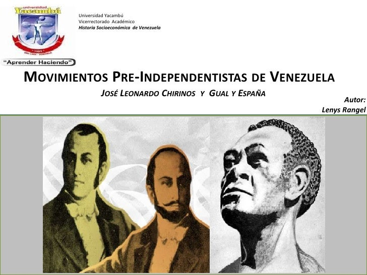 Movimientos Pre Independentistas de Venezuela