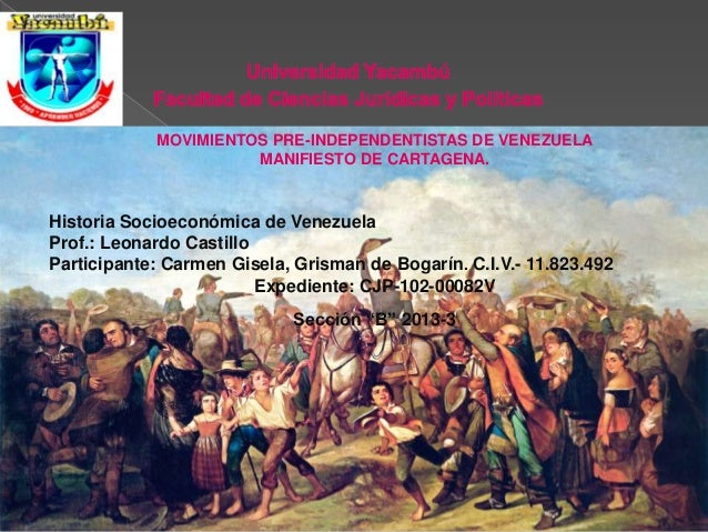 Movimientos Pre- Independentistas de venezuela